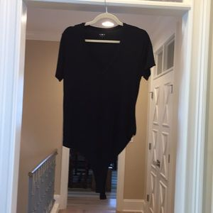 Three dot v neck black body suit (zb)